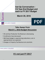 San Juan College March 29 Budget Presentation for Board