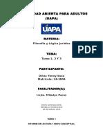 Tarea 1, 2 y 3 Filosofia y Logica Juridica