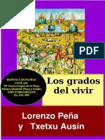 """""""Los grados del vivir"""" por Lorenzo Peña & Txetxu Ausín"""