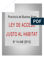 Ley de Acceso justo al Hábitat