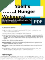 world hunger web quest