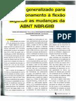Modelo Generalizado Para Dim à Flexão Segundo as Mudanças Na NBR 6118