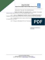 UFMS - Regulamento Geral Matrícula - Resolução-269 Atual
