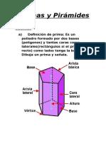 Prismas y Pirámides Teoria