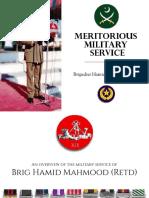 Meritorious Military Career