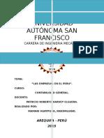 Contabilidad General- Las Empresas en El Peru