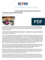 26. Knowledge.wharton.upenn.edu-Brushstrokes and Business Risks Deena Fadels Exercise in Creativity and Entrepreneurship