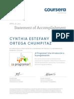 Coursera aprogramar 2015