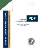 Clay County Schools Audit