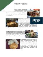 Comidas y Bebidas Tipicas Nicaragua