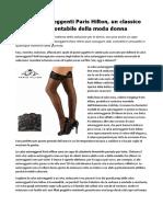 Calze autoreggenti Paris Hilton, un classico intramontabile della moda donna