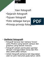 Teknik Fotografi Definisi