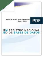 Manual de Usuario RNBD