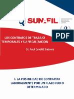 """Seminario """"Los contratos de trabajo  Temporales y su Fiscalización"""""""