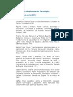 Bibliografía Sobre Innovación Tecnológica