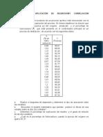 Ejercicios de Aplicación de Regresiony Correlacion Linealsimple