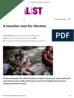 A Socialist Case for Ukraine