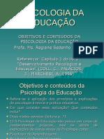 Objetivos Da Psicologia Da Educação- Agosto de 2015