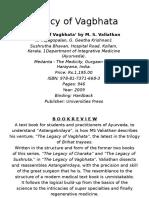 Legacy of Vagbhata
