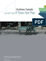 Library and Archives Canada Three-Year Plan 2016-2019