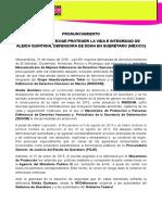 PRONUNCIAMIENTO IM-DEFENSORAS EXIGE PROTEGER LA VIDA E INTEGRIDAD DE ALEIDA QUINTANA, DEFENSORA DE DDHH EN QUERÉTARO (MÉXICO) 310316