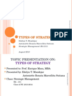 Types of strategies