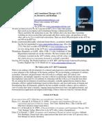 Bibliografía y Anexos de La Terapia de Aceptación y Compromiso