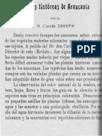 Plantas Tintóreas Araucanas. Claude Joseph