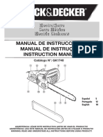 Manual Serra Elétrica Black Decker GK1740
