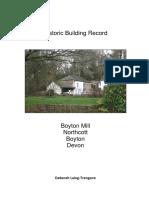 historic buildings report  boyton mill  2016