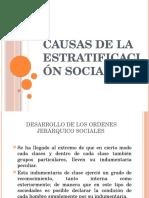 Causas de La Estratificación Social