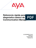 Referencia rápida para el diagnóstico básico de Avaya Communication Manager
