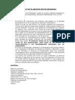 Proceso de Elaboracion de Biodiesel