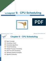 Ch6 CPU Scheduling