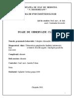 Fisa Clinica La Pneumoftiziatrie