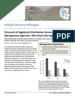 Forecasts of sagebrush distribution across western land management agencies