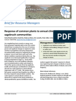 Response of common plants to annual climate variation in sagebrush communities