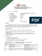 Universidad Alas Peruanas - Facultad de Ciencias de La Comunicación -Silabo Por Competencia