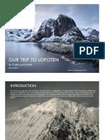 Our Trip to Lofoten