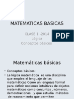Matematicas Basicas Clase 1 2014