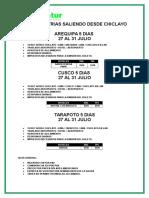 Fiestas Patrias Nacional Saliendo Desde Chiclayo