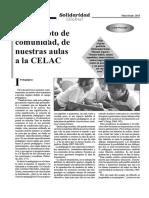Wainsztock - El Concepto de Comunidad, De Nuestras Aulas a La CELAC