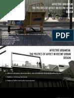 Affective Urbanism. the Politics of Affect in Recent Urban Design