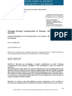 Managing Strategic Communication in Museums. the Case of Catalan Museums