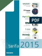 Toscano Tarifa 2015