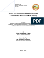Design and Implementation of a Proposed Technique for Association Rule Mining