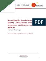 DT6 2015 Mesa Normalizacion de Relaciones Entre EEUU y Cuba Causas Prioridades Progresos Obstaculos Efectos y Peligros