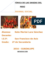 Reseña Histórica de Las Danzas Del Perú