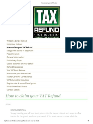 How to Claim Your VAT Refund   Value Added Tax   Visa Inc