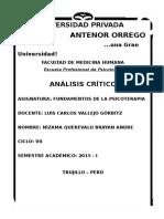 Análisis Crítico a Paul L. Wachtel